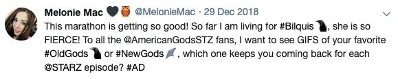 Melonie Mac Tweet 1