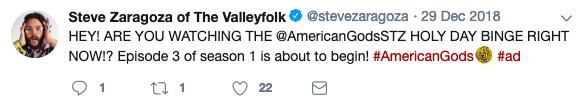 Steve Zaragoza Tweet 1